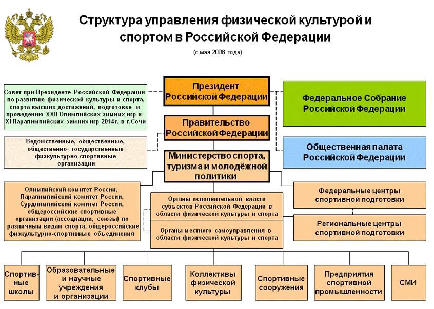 2 1 организационная структура управления физкультурно спортивным и спорта оздоровления населения российской федерации...